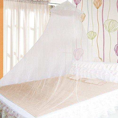 Yahee Zanzariera a baldacchino da letto bianca Altezza 2,3 metri Circonferenza del fondo : 850 cm