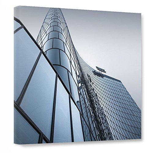 artboxone-leinwand-40x40-cm-geometrie-stadte-stadte-wien-architektur-omv-headquarter-wien-grau-kunst
