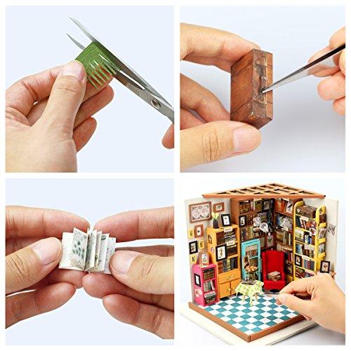 DIY Bausatz Buchhandlung/Bibliothek mit LED Licht - 4
