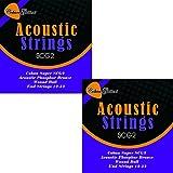 2x Coban Guitars SCG2Extrémité à boule Cordes Cordes guitare acoustique phosphore bronze 12-52
