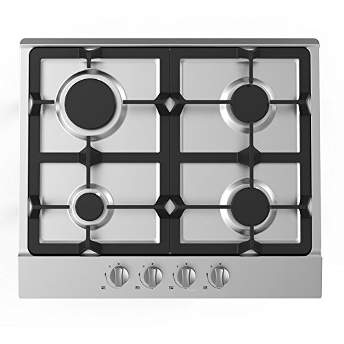 519%2B9CZ9KHL. SS500  - Cookology Gas Hob GH605SS | 60cm, Built-in, Stainless Steel & Cast Iron Pan Supports