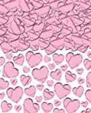 AMSCAN International - Cuori iridescenti, colore: Rosa chiaro