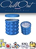 Chillout® Ice Genie das Eiswürfelschale aus Silikon Wasserdicht & Revolutionäre Ice Cube Maker rund mit Deckel