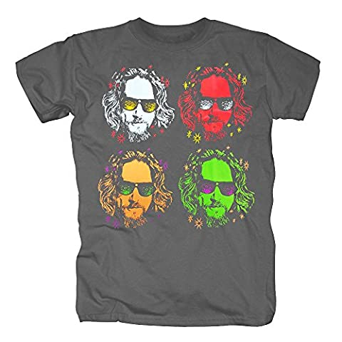 TSP The Big Lebowski - Warhol T-Shirt Herren M Dunkelgrau (Peter In Ein Pan-kostüm)