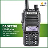 BAOFENG UV-82plus 8W Max Scanner di Trasmissione A Lungo Raggio Radio Bidirezionale Polizia vigili del Fuoco di Salvataggio Dual Band Prosciutto Walkie Talkie