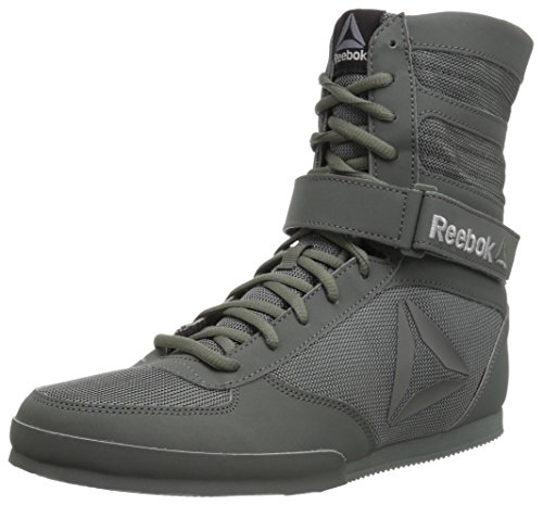 Reebok Men's Boot-Buck Boxing Shoe, Buck-Ironstone/Black, 11.5 M US