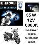 #5: Volga Hid Xenon Head Light Kit For Honda Activa 3G H4 6000K Slim Ballast Super Bright