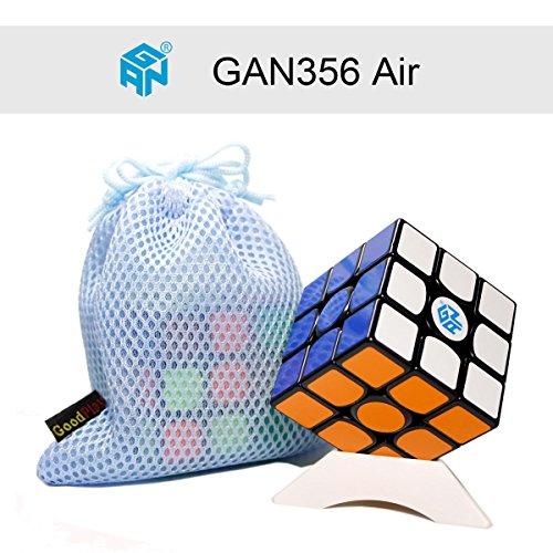FunnyGoo Gan356 Air 3x3 cubetti Gan 356 Air standard magici cubo + un cubo stand e una borsa cubo (nero)
