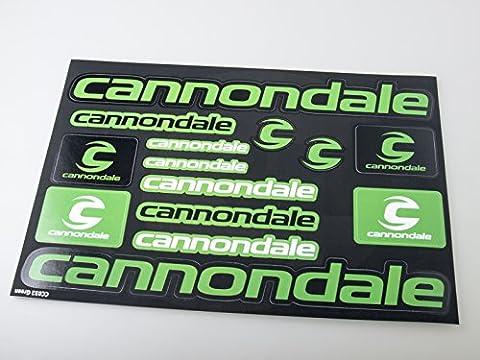 Cannondale Autocollants pour vélo Autocollants Autocollants Autocollants Vinyl Adesivi (Vert - Noir)
