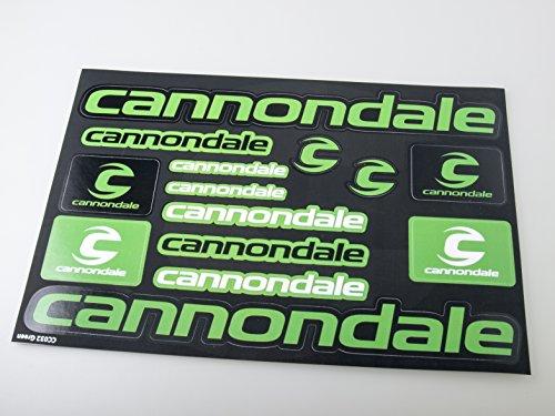 Cannondale Fahrradrahmen Aufkleber Aufkleber Grafik Set Vinyl Adesivi (Grün - Schwarz)