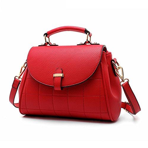Sprnb Moda Borsa Donna Borsa A Tracolla Messenger Semplice Portatile Tutti-Match Tempo Libero I Modelli Wind,Big Red Big red