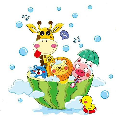Nette Tiere Im Bad Dusche Wandaufkleber Badezimmer Blasen Aufkleber Für Kinderzimmer Baby Room Home Dekoration Kunst Decals Decor