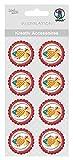 Ursus 564000283 - Kreativ Accessoires, Fische, 8 Stück, rot