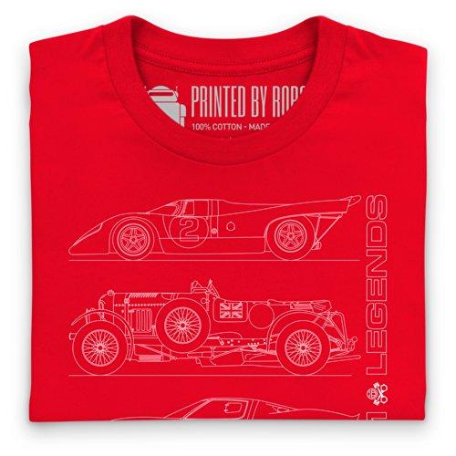 LM Legends T-Shirt, Herren Rot