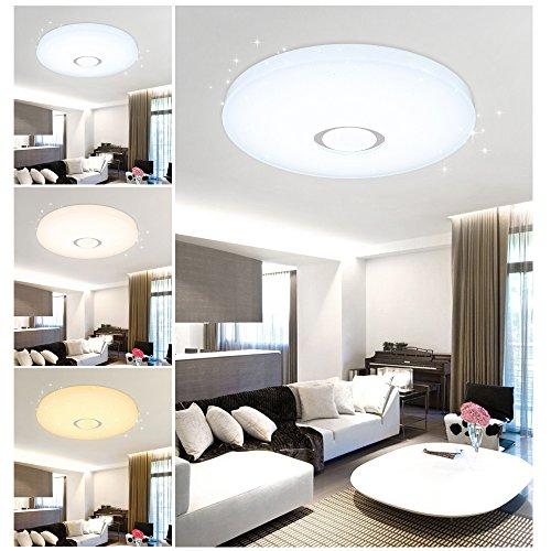 VGO® 60W 3in1 Stern Himmel LED Deckenlampe Modern Farbwechsel Esszimmer Deckenbeleuchtung Flurleuchte IP44 550*112mm