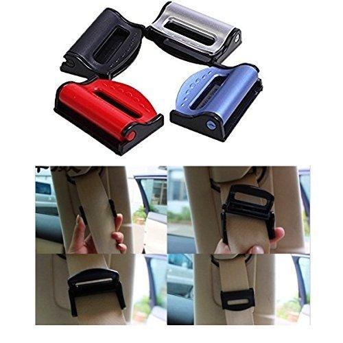 EQLEF® Sicherheitsgurt-Klipp-Auto-Sicherheitsgurt-Einsteller, Universal-justierbare sichernde Schnallen zum Sich zu entspannen Schulter-Hals-Bequeme Sicherheitsgurt-Klipps 4 Pcs