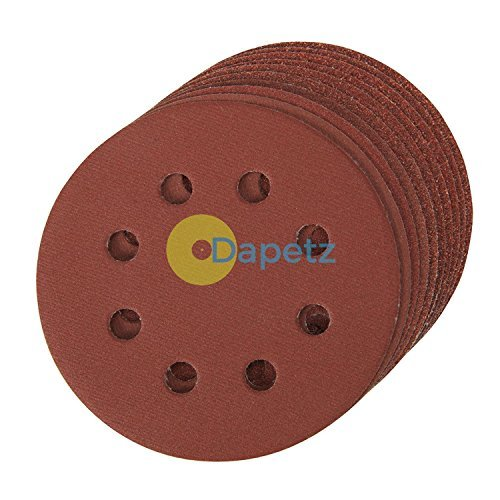 Daptez® Fori dischi abrasivi 115mm 10pk grana 120Hook & Loop in ossido di alluminio resina Bond