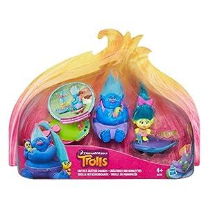 Trolls - Kit Trolls En Monopatín (Hasbro B6558EU4) , Modelos/colores Surtidos, 1 Unidad