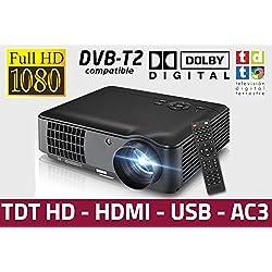 proyector Luximagen HD520 con TDT, USB, HDMI, VGA, AC3, resolucion Real HD, 2 años de garantía
