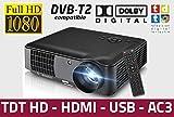 Billig luximagen HD520Projektor mit DVB-T, USB, HDMI, VGA, AC3, RESOLUCION Real HD, 2Jahre Garantie