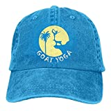 CrownLiny Goat Yoga Funny Zen Yoga Vintage Jeans Baseball Cap for Men and Women