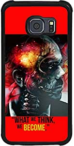 PrintVisa 2D-SGS6E-D8091 Skull Quotes Case Cover for Samsung Galaxy S6 Edge(SM-G925i)