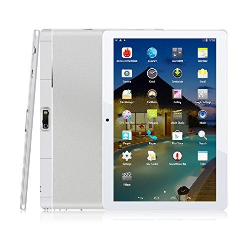 Kivors -  Tablet DE 9.6 Pulgadas IPS HD (Android 4.4,  Quad- Core,  HD 1200 * 800 IPS,  Dual Sim,  1GB RAM,  16GB ROM,  Dual Camera,  WiFi,  Bluetooth,  OTG) para Adultos y Niños