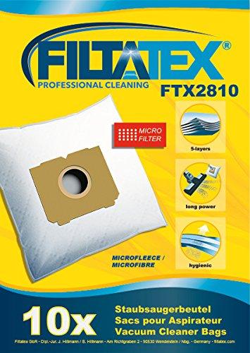 10 x FILTATEX sacs aspirateur Tornado TO4562 / tornado to 4562 - tornado campus 4562 / tornado campus to 4562 - tornado to4562 1900w