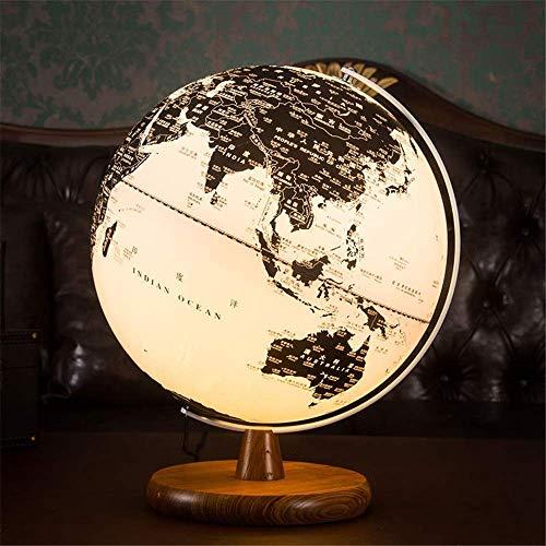 PPO Beleuchtete Weltkugel mit Holzboden Nachtsicht-Stern-Konstellation-Muster-Globe-Lampe for Kinder mit detaillierter Weltkarte Integrierte LED-Birne keiner Batterie erforderlich pädagogischer Gesche -