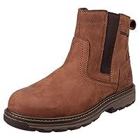 Caterpillar Cat Pelton Brown/Tan SBP Work Safety Boots Steel Toe & Midsole