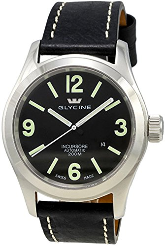 Glycine Incursore Automatic Stainless Steel Mens Strap Swiss Watch Calendar...