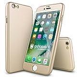 CASYLT® iPhone 6 / 6s Hülle 360 Grad Fullbody Case [inkl. 2X Panzerglas] Premium Komplettschutz Handyhülle Gold