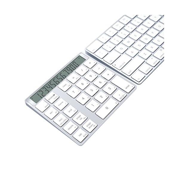 Alcey Bluetooth Wireless Magic Keypad & Calculator Combo for Apple Wireless Keyboard 519 2BKm4RwML
