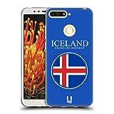 Head Case Designs Isländische Fahne Fahnen Flicken Soft Gel Hülle für Huawei Honor 7A Y6 Prime 2018