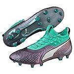 Puma One 1Illuminate Syn FG/AG Botas de Fútbol para Hombre, Hombre, 104924-01, Mint/Lila, 10 UK - 44.5 EU