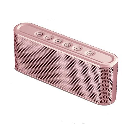 Leilei Bluetooth-Lautsprecher Tragbarer Bluetooth 4.2-Touch-Stereolautsprecher Dual-Driver 8-10h Spielzeit und eingebautes Mikrofon,Pink 2 Schallköpfe
