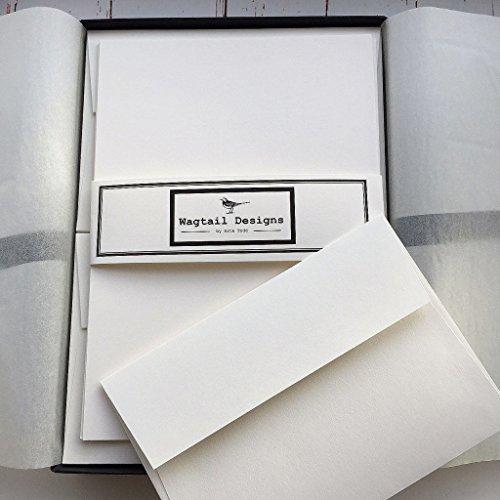 Stelzen (Gattung) Designs, Elfenbein (creme) Schreiben Papier, Geschenk-Set in hübscher schwarz Box mit Band (36Blatt Qualität Schreibpapier mit passenden Umschlägen)