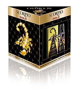 Scorpio Coffret 2 Produits Gold Eau de Toilette Flacon de 75 ml + Déodorant Atomiseur 150 ml