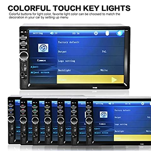 Auto Stereo MP5 Player - Kingwo 7 In 2Din Auto Stereo MP5 Player Touch Screen FM Radio USB SD Bluetooth + Kamera Mit 1 x 7