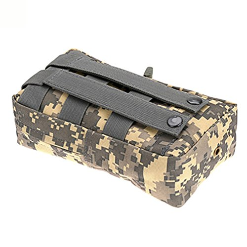 nighteyes66Nylon Outdoor Tactical MOLLE UTILITY Tasche Camping Jagd Militär Combat Taille Pouch Bag Greyish white
