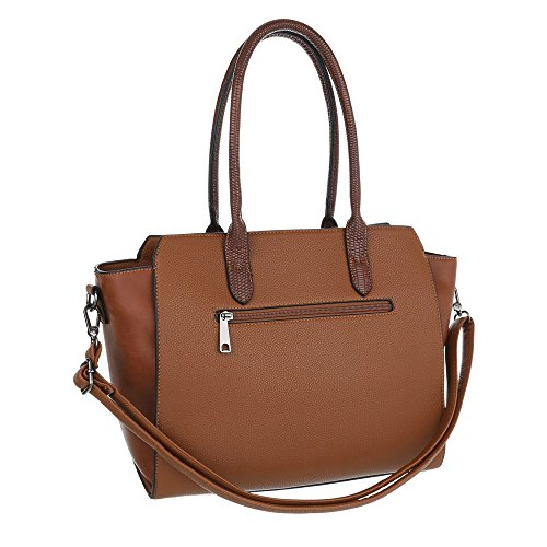 Borsa Da Donna A Tracolla Media Ital-design In Similpelle Ta-8824-363 Marrone