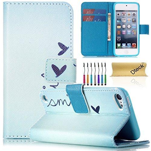 iPod Touch 5/6Fall, dteck (TM) Süßes PU-Leder Ständer Wallet Magnet Case [Karten/Geld Halter] Flip Zusammenklappbar für Apple iPod Touch 5. 6. Gen 10,2cm, 1 Little Heart Shape