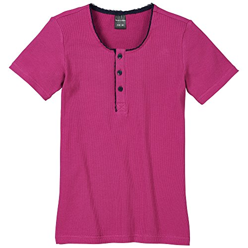 Schiesser Mädchen Schlafanzugoberteil Shirt 1/2, Gr. 164, Rot (beere 512)