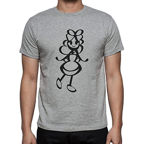 Alice In Wonderland Black And White Herren T-Shirt Grau
