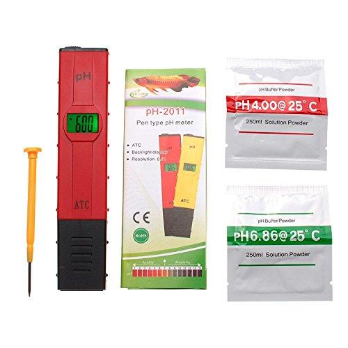 JZK® Piaccametro digitale professionale tester pH metro phmetro per acqua potabile, vino, bevande, SPA, acquario, (2 Pulsante Spa)