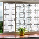 HAOLY Mit klebstoff Selbstklebend Matt Glas klar Film,Badezimmer Küche Office Badezimmer Balkontür Fenster Aufkleber-A 60x300cm(24x118inch)