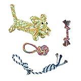 Durable Pour Animal Domestique Corde Jouets Chien de boule de jouet interactif pour chien Coton Corde nouée brossage des dents jouet pour chien Lion jouet pour petits et moyens chiens Piqueurs