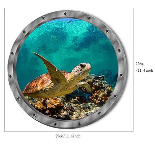(Yirenfeng 5 Arten Unterwasser Fisch Wandaufkleber Wasserdichte Delphin Schildkröte Aufkleber Für Waschmaschine Dekoration Für Bad Decals Pvc)
