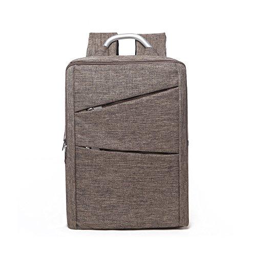 Evay Ultraleicht und dünn Business Laptop Rucksack bis zu 15,6 Zoll Schulter Notebooktasche Lightweight Nylon Oxford Tuch Wasserdicht Multi Purpose Umhängetasche mit Metallgriff Khaki Brown