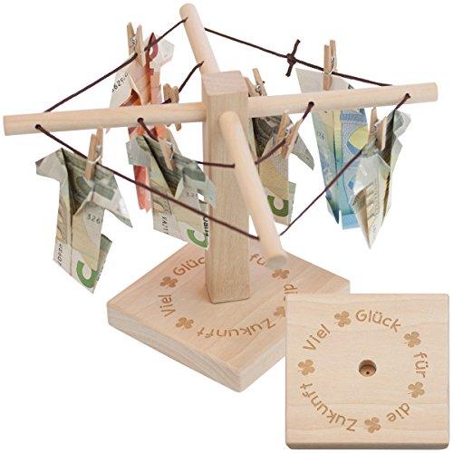 Preisvergleich Produktbild Geld-Wäschespinne mit Gravur: Eine kreative Möglichkeit Geld originell zu verpacken - Verschenke eine Aufmerksamkeit mit liebevoller Widmung und individuellem Design, durch die Vielzahl an Varianten
